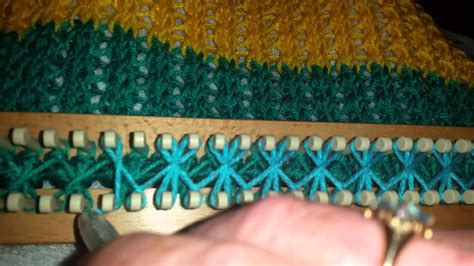 knitting loom how to wrap the stitch on rake loom all in one