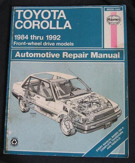 auto repair manual online 1984 toyota celica lane departure warning purchase toyota corolla 1984 1992 repair manual by haynes motorcycle in mansfield massachusetts