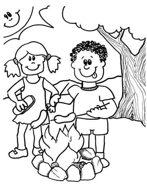 Summer Coloring Pages For Kindergarten summer coloring pages for preschool az coloring pages