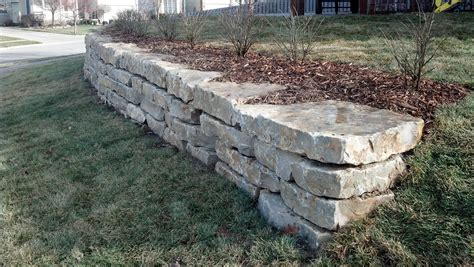 Limestone Retaining Wall Mechaley Landscaping Retaining Walls Garden