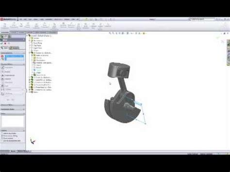 tutorial solidworks engine solidworks assembly tutorial 1 cylinder engine pt3 youtube