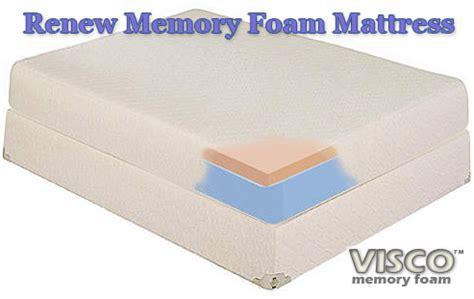 Renew Mattress by Renew Memory Foam Mattress Cal King Visco Memory Foam