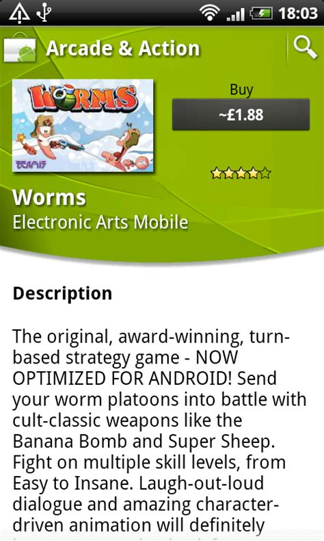 ea for android ea finally publishes worms on the android market eurodroid