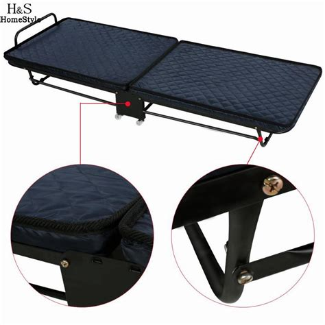 single rollaway bed  mattress rolling folding portable outdoor camping cots nap bed