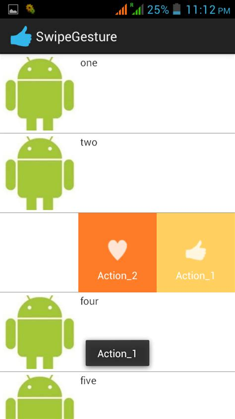 android studio right to left listview stack overflow resource for android slight left right slide action on