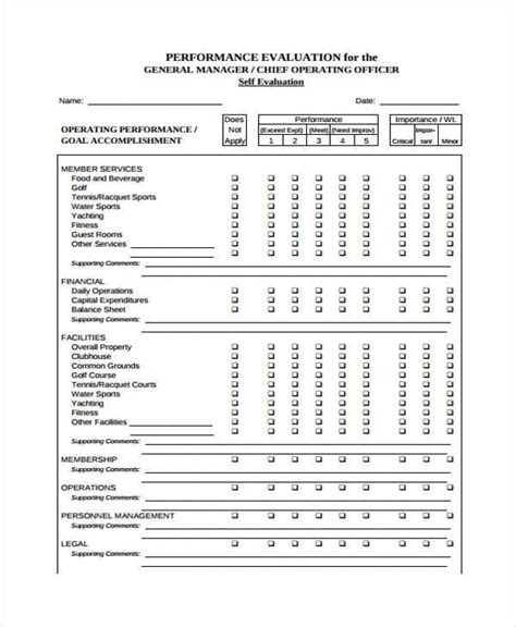 general evaluation template orientation feedback form