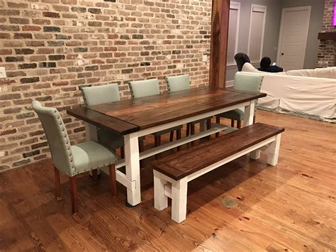 ana white farmhouse table bench ana white farmhouse table and matching bench diy projects