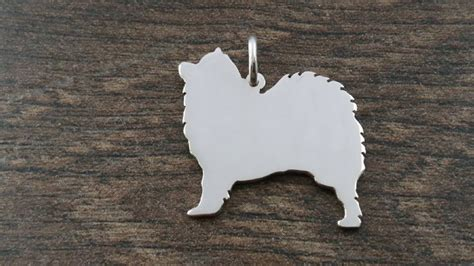 Handmade In Uk - samoyed charm silhouette solid sterling silver