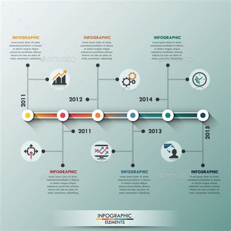 How To Make A 3d Timeline On Paper - modern infographic minimal timeline template design