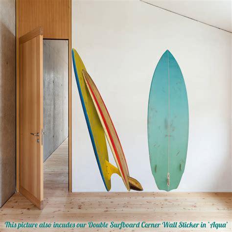 surfboard wall stickers single surfboard wall sticker by oakdene designs