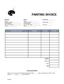 free painting invoice template word pdf eforms