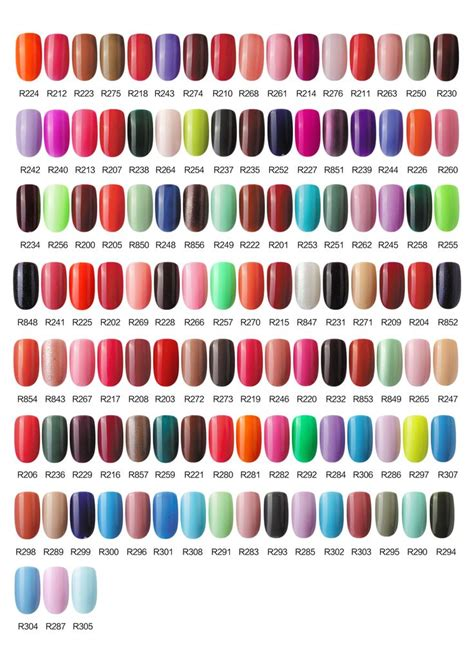 gel color gel colors color charts and gel on