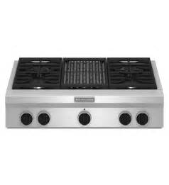 Kitchenaid Stovetop Grill 36 Inch 4 Burner With Grill Gas Rangetop Commercial