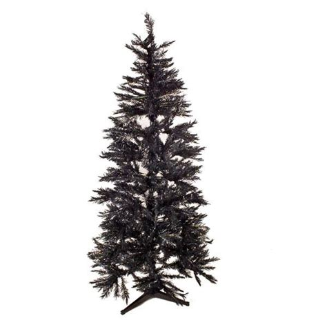 black christmas tree 2m 6 5ft slimline spruce