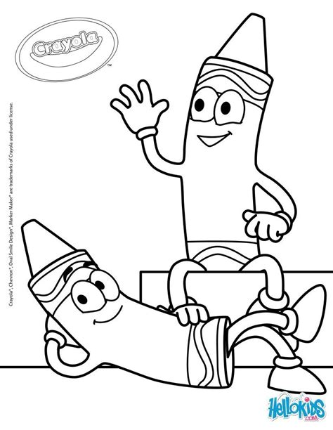 crayola crayon coloring pages coloring home