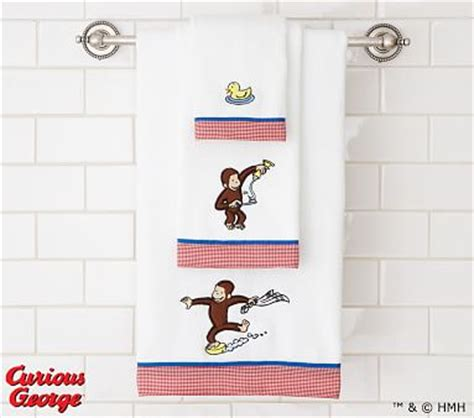 curious george shower curtain curious george bath towels pottery barn kids
