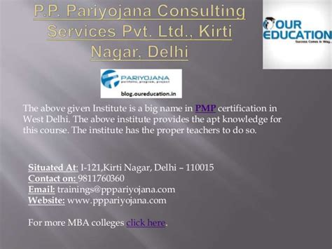 Mba Preparation In Delhi by Top Pmp Coaching Centers In West Delhi