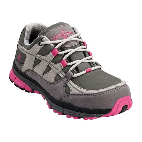nautilus s pink and grey steel toe shoe n1771
