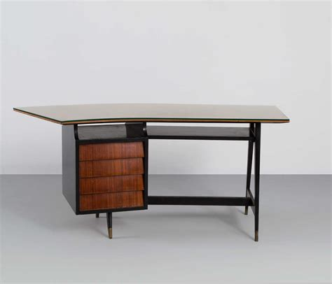 curved writing desk gently curved writing desk in the style of marcel gascoin