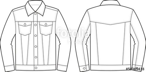 jacket design template cdr quot vector fashion illustration of jeans jacket quot stock image