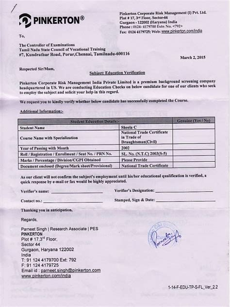 Confirmation Letter Of Ignou Verification Letters Govt Pvt Tnscvt R