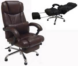 chair with foot leather reclining office chair w footrest