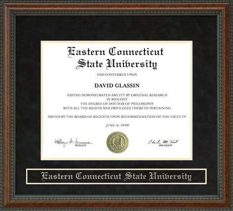 Uconn Mba Diploma Frame by Eastern Connecticut State Ecsu Diploma Frame