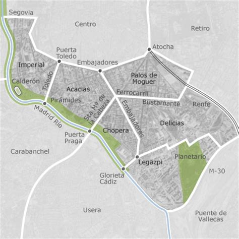 mapa de arganzuela madrid idealista