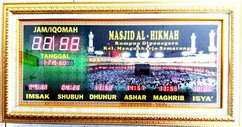 Jadwal Sholat Abadi Murah Berkualitas 145x65cm kecamatan kaliwungu archives pusat jam digital masjid murah bergaransi