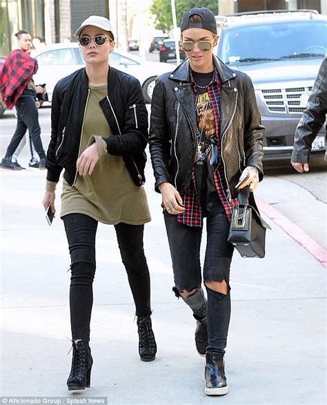 ruby rose embraces pop star halsey as pair watch star wars