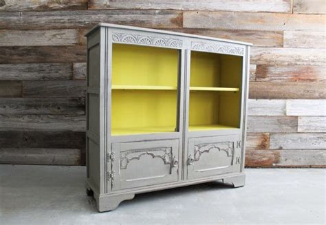 cabinet shelving gray painted media console cabinet painted vintage yellow and gray modern cabinet bookshelf