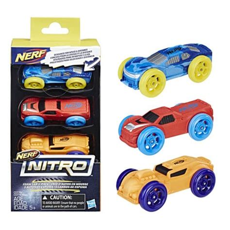 Nerf Nitro Foam Car 3 Pack Terbaru Nerf Nitro Foam Car 3 Pack 2 Hasbro Nerf Vehicles At