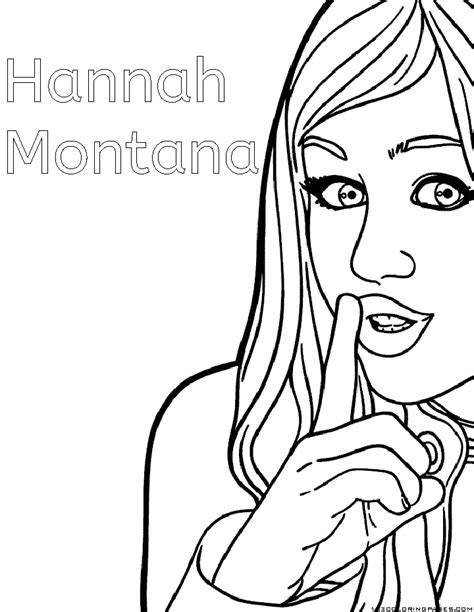 hannah montana coloring pages coloring pages