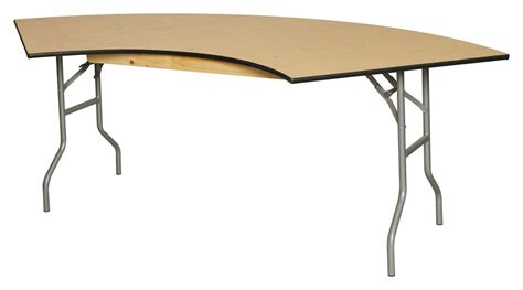 Serpentine Table by Wood Folding Table Serpentine Commercial Quality