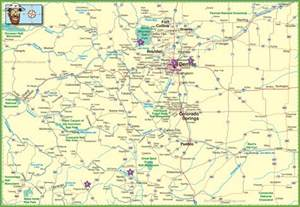 cities of colorado map large detailed map of colorado with cities and roads