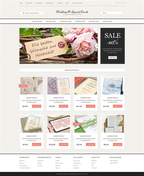 wedding site templates free wedding cards store opencart template 51799