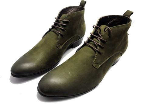 mens green boots aliexpress buy new green black mens ankle boots