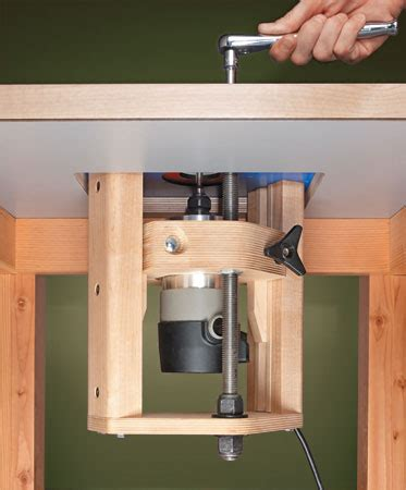 8 free router lift plans build notes and videos the router jig router lift woodsmith plans