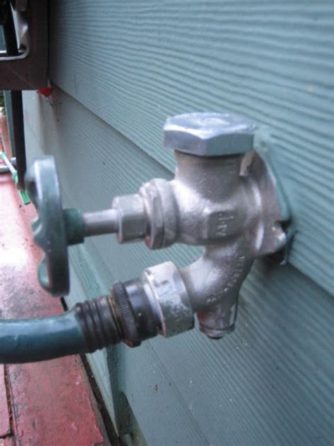 Anti Siphon Device On Outside Faucets outdoor spigot spray when turned