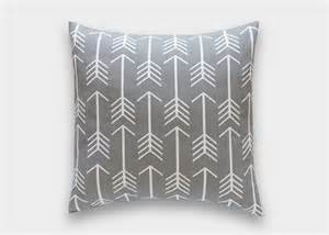 Cool Decorative Pillows Cool Gray Arrows Decorative Pillow Cover Choose From 3 Sizes