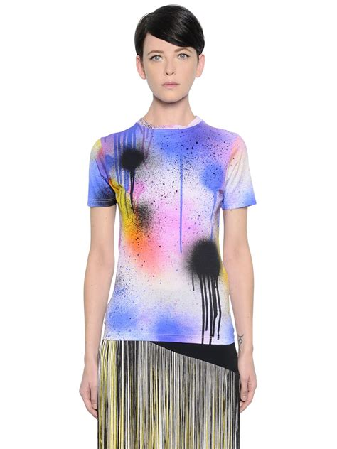 spray painting clothes lyst christopher spray paint print stretch jersey t