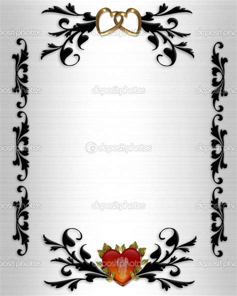 wedding clip art borders   Wedding invitation, Valentines