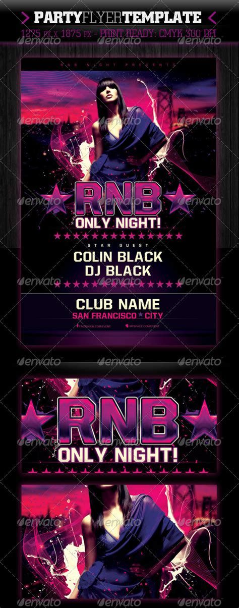 template rnb flyer rnb only night flyer template graphicriver