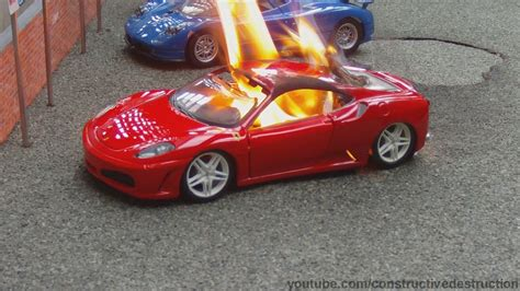toy ferrari toy ferrari engine blowup ends in flames youtube
