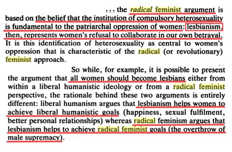 lesbian radical feminists all feminists beware the dirt from dirt social construction how radical feminism blames women for