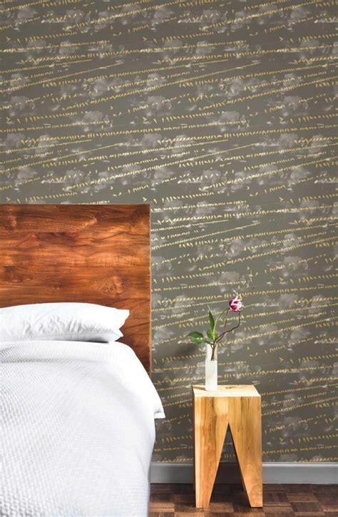 grey removable wallpaper district17 flock storm grey removable wallpaper wallpaper