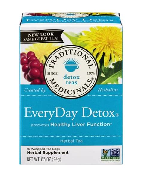 Everyday Detox Tea Ingredients by Traditional Medicinals Detox Teas Everyday Detox 16 Count