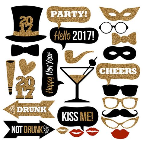 new year s eve photo booth props 2017 printable 2017 new year s eve photo booth props collectionprintable