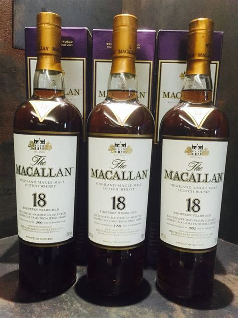 Sheery Collection Series 10 macallan 18 year sherry oak trio 1990 1991 1992 catawiki