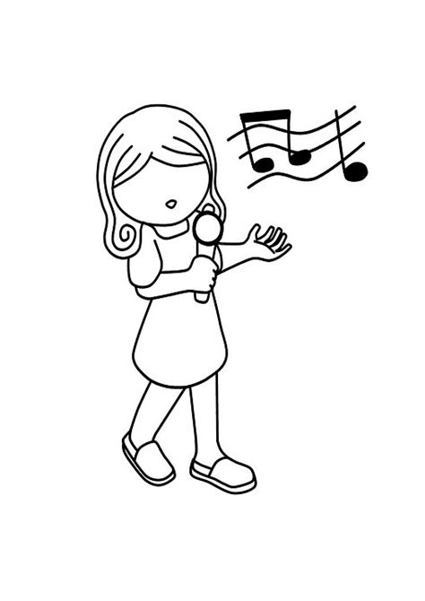 little girl singing coloring page birthday songs for under 5s party supplies